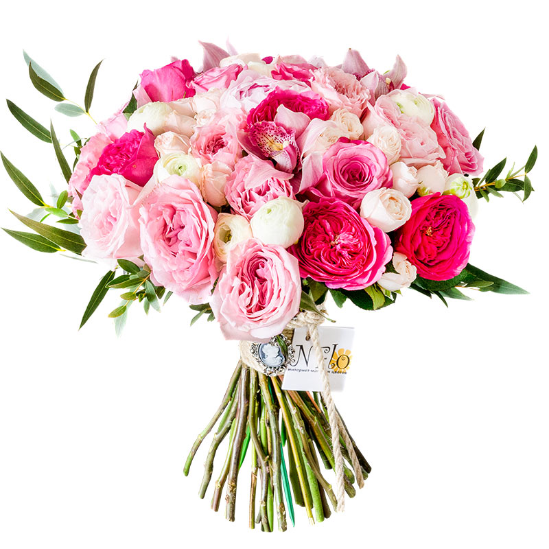 Купить букет пионы и розы