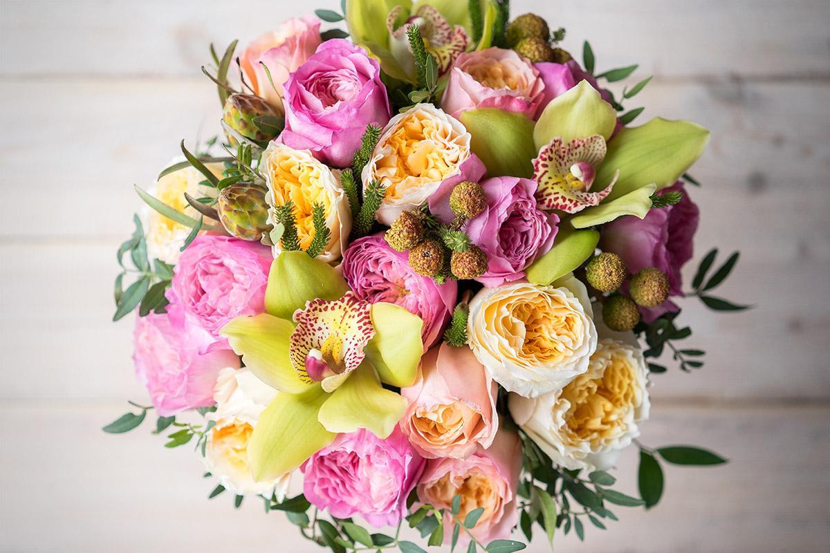 Дешевый букет из пионовидных роз фото, томск