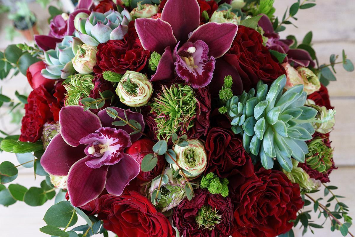 как орхидеи и красные розы букет фото память останутся