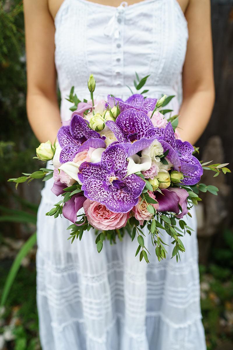 Букеты невесты из орхидей ванда, букет розы
