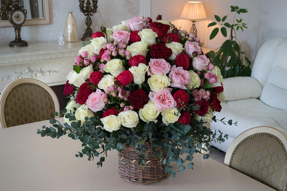 Букет роз пышных фото